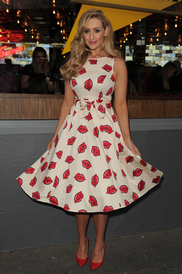 Corrie actress Catherine Tyldesley at the Infamous Diner opening in Manchester. 23 July 2015.