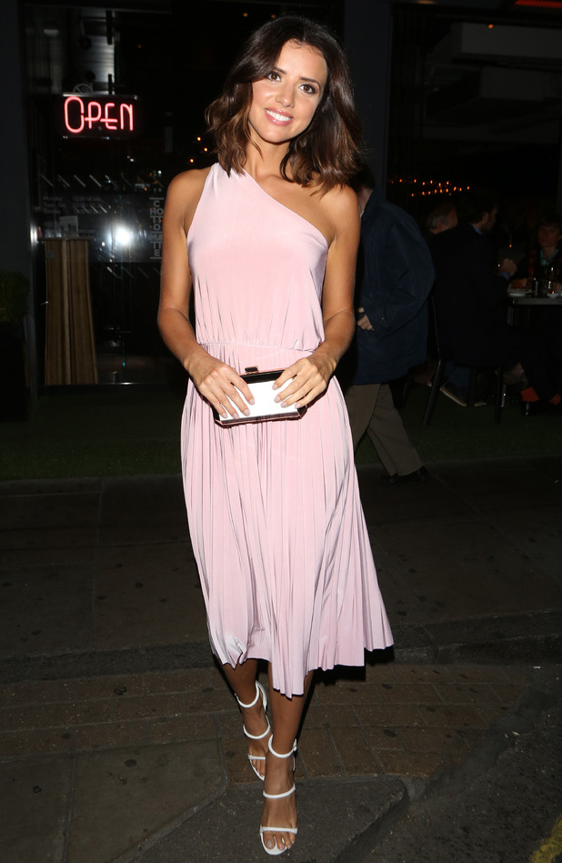 Lucy Mecklenburgh eating out in London 22 July