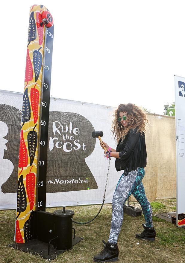 Ella Eyre at Nando's Cock o' Van at Lovebox 2015
