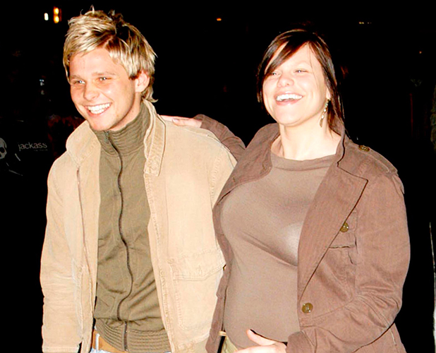 Jade Goody and her boyfriend Jeff Brazier at the Jackass premiere in London 2003
