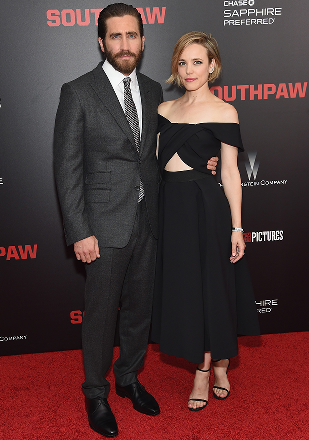 Jake Gyllenhaal and Rachel McAdams attend the New York premiere of 'Southpaw' at AMC Loews Lincoln Square on July 20, 2015 in New York City. (Photo by Jamie McCarthy/FilmMagic)