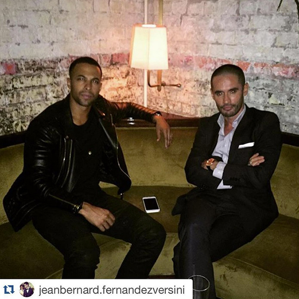 Marvin Humes and Jean-Bernard Fernandez-Versini in Instagram picture 21 July 2015