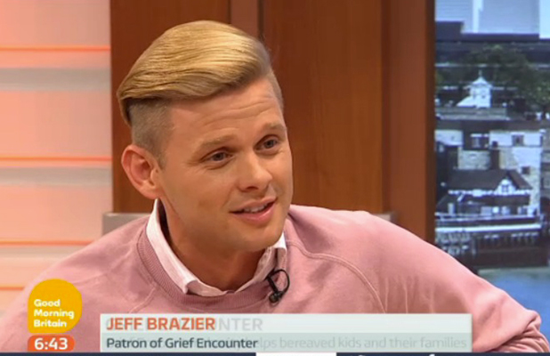 Jeff Brazier on Good Morning Britain, 22 July 2015