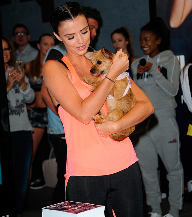 Lucy Mecklenburgh promotes her new fitness range with Ellesse at Sports Direct on Oxford Street. During the event Lucy met fans and signed autographs 22 July 2015