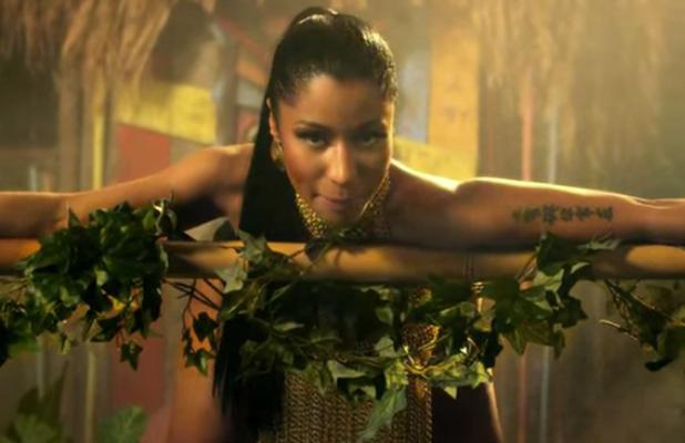 Nicki Minaj in her Anaconda video