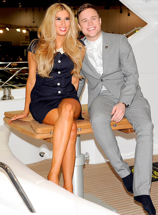 Stacey Solomon and Olly Murs attend a photocall to open the 2010 International Boat Show at ExCel London, England - 08.01.10