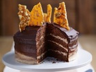 Ombre chocolate peanut butter celebration cake recipe
