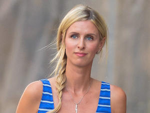 Nicky Hilton nails nautical chic with striped frock & mermaid-braid!