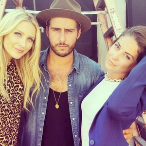 Louise Thompson, Stephanie Pratt, Alik Alfus, LA 24 July