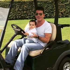 Simon Cowell and baby Eric at X Factor boot camp 30 July