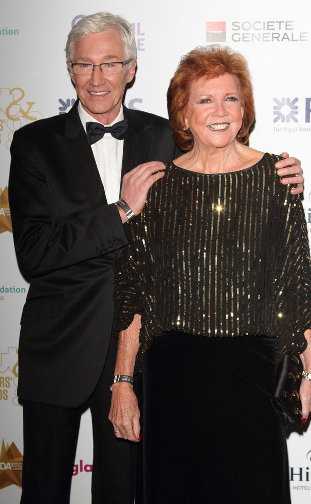Cilla Black and Paul O'Grady attend Out In The City and G3 Readers' Awards, 25 April 2014