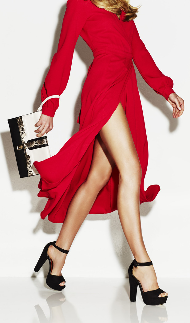 Abbey Clancy models platform shoes for Matalan accessories collection, £30 29th July 2015