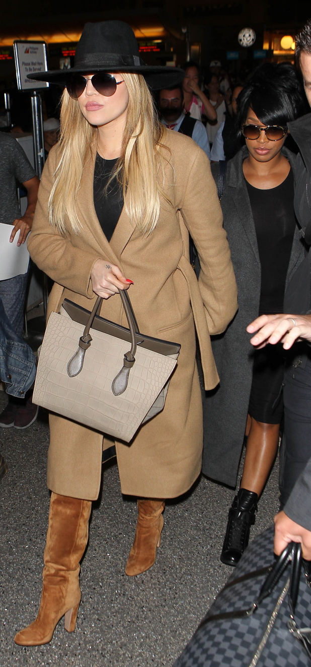 Khloe Kardashian steps out at L.A.X Airport in L.A, 28th July 2015