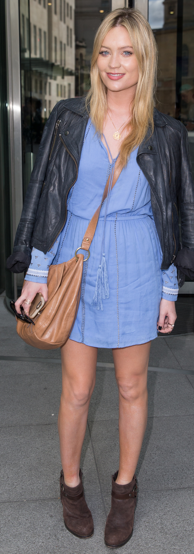 TV presenter Laura Whitmore outside BBC studios in London 29th July 2015