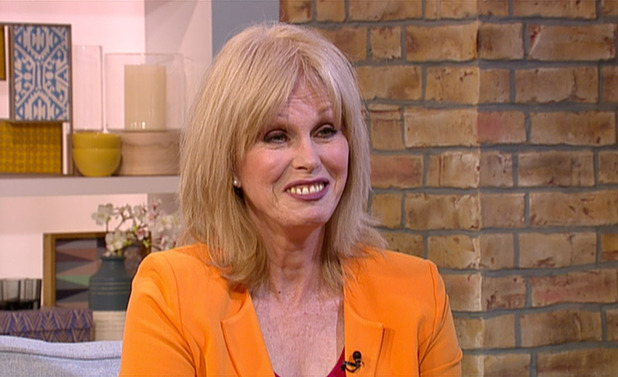 Joanna Lumley appears on ITV's This Morning, 29th July 2015