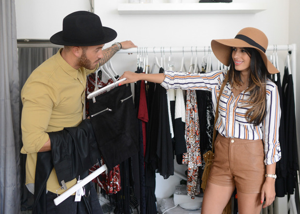 Desi Rascals: Jasmin Walia and Ross Worswick shopping. Episode airs: 29 July 2015.