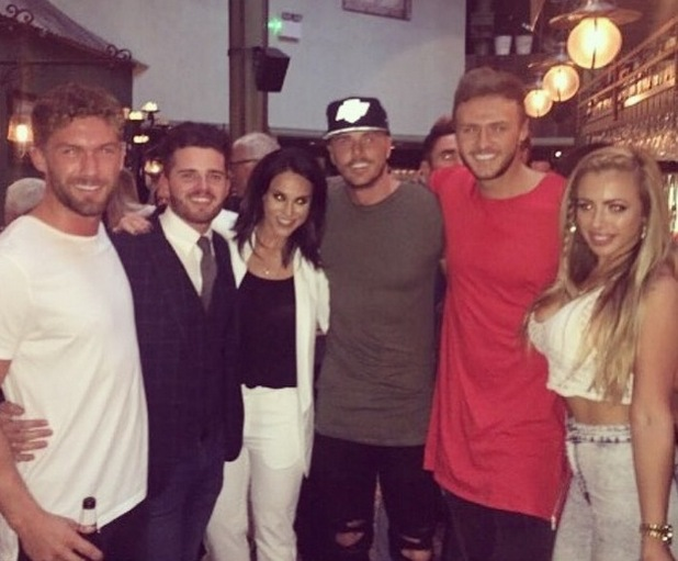 Vicky Pattison, Kyle Christie and Holly Hagan 27 July