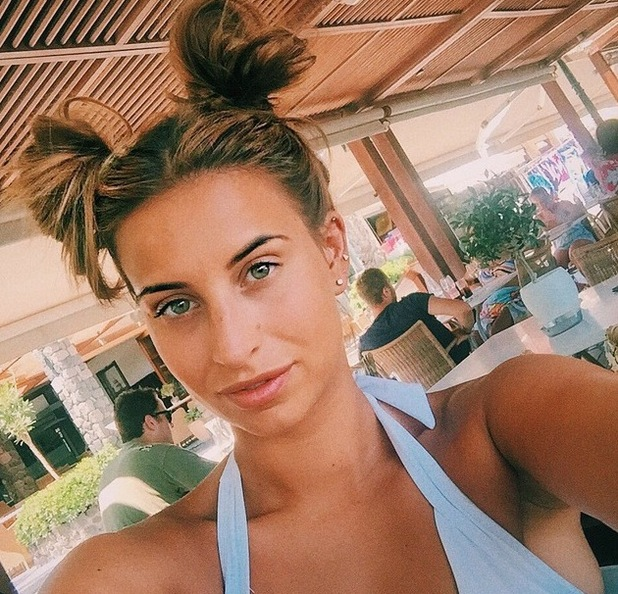 Ferne McCann wears hair in Minnie Mouse inspired style 28 July