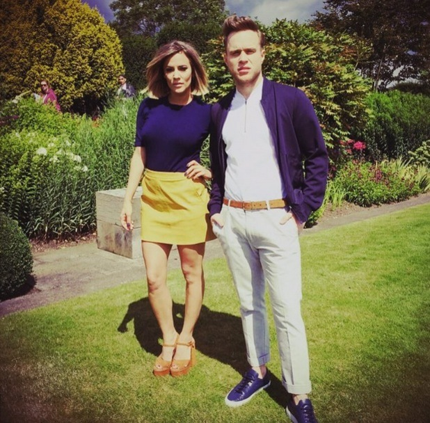 Caroline Flack and Olly Murs at X Factor boot camp 29 July