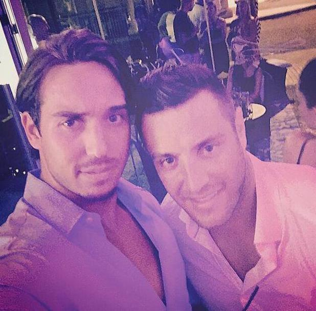 James 'Lockie' Lock and Elliott Wright have shown that their bromance is back on track after meeting up in Marbella - 27 July 2015.