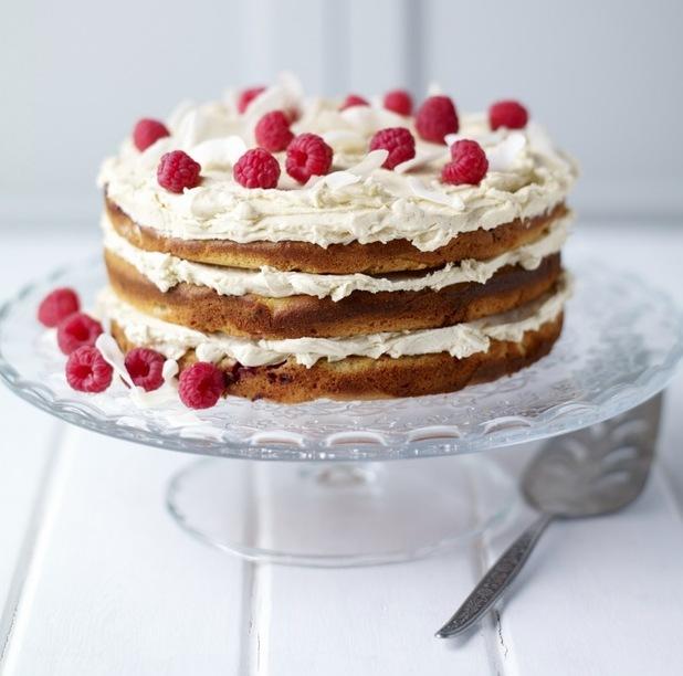 Wheat-free raspberry and coconut layer cake recipe