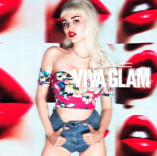 Miley Cyrus stars in the latest M.A.C Viva Glam collection campain, 31st July 2015