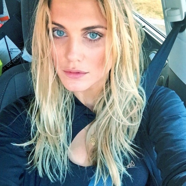 Ashley James takes to Instagram to share 'beachy' selfie 29th July 2015