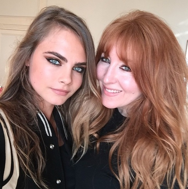 Charlotte Tilbury and model Cara Delevingne take to Instagram to share a selfie, 28th July 2015
