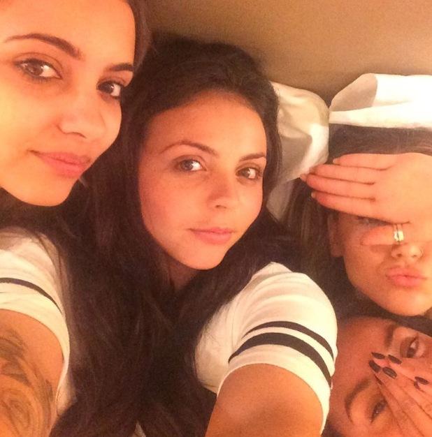 Little Mix girls upload barefaced selfie to Instagram, 27th July 2015