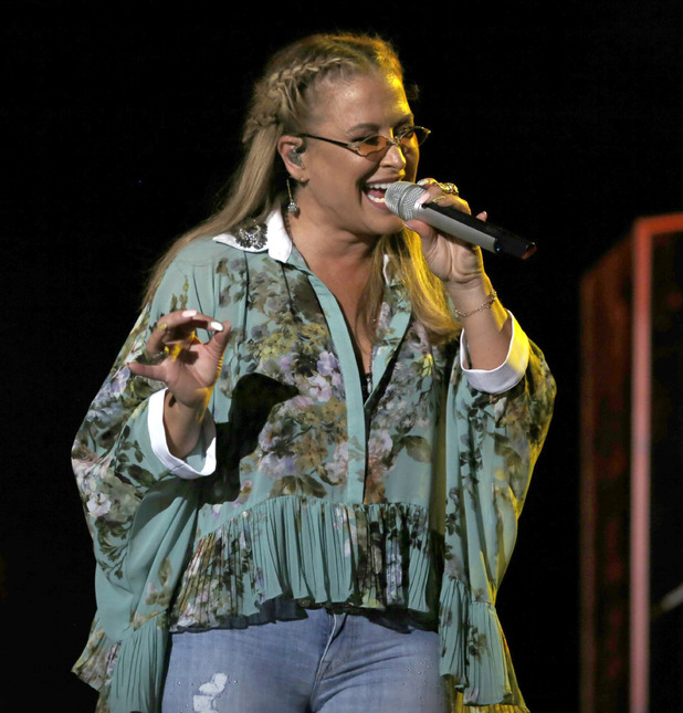 Anastacia performs live in Palermo, July 2015