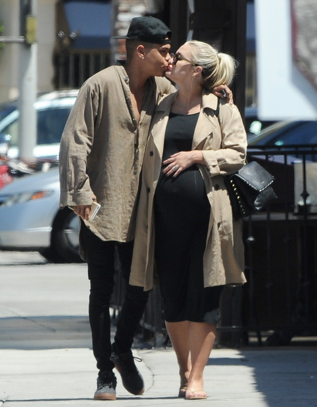 Ashlee Simpson and Evan Ross out in Studio City, LA 27 July