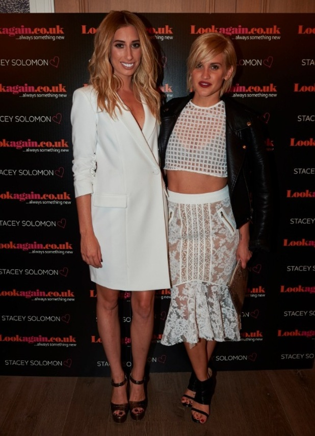 Stacey Solomon and Ashley Roberts attend Stacey's Lookagain launch at Hamyard Hotel in London, 30th July 2015