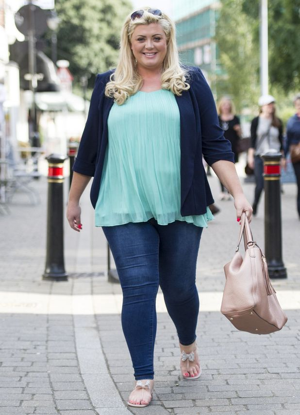 Gemma Collins arriving at her Shop, Brentwood, Essex, 25th July 2015