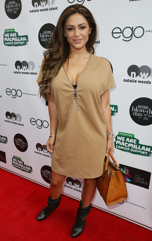 Casey Batchelor attends Macmillan Cancer Party, London 28 July