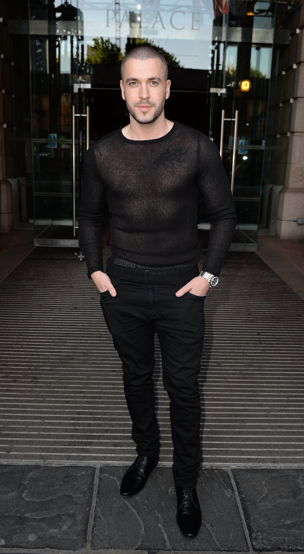 Shayne Ward arriving at the Palace Hotel Manchester for the Miss Manchester Finals 07/05/15