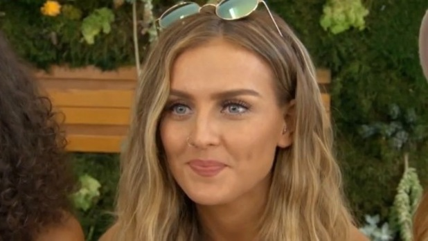 Little Mix's Perrie puts on a brave face as she is asked about break-up with Zayn. 4 August 2015.