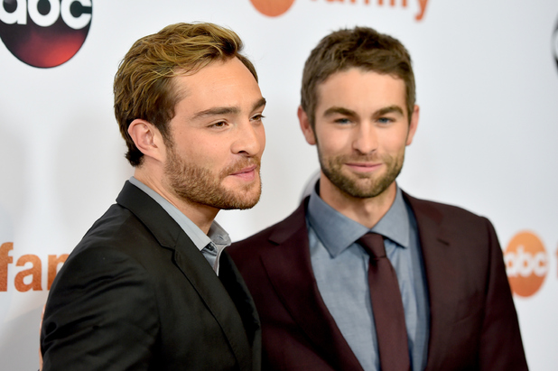 Chace Crawford and Ed Westwick arrives at the Disney ABC Television Group's 2015 TCA Summer Press Tour on August 4, 2015 in Beverly Hills, California.