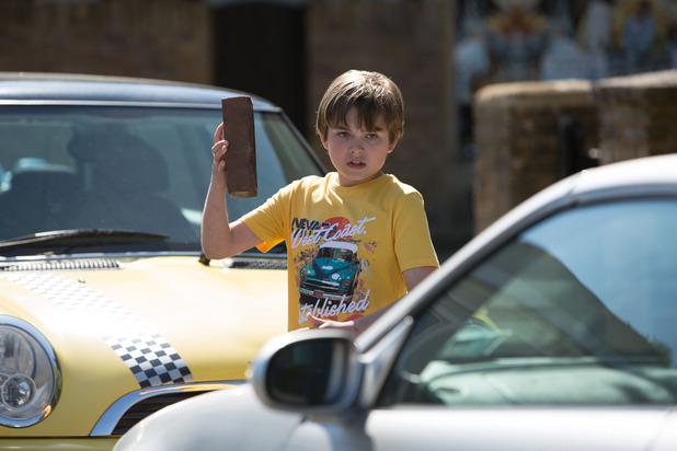 EastEnders, Bobby tries to smash Max's car, Mon 10 Aug