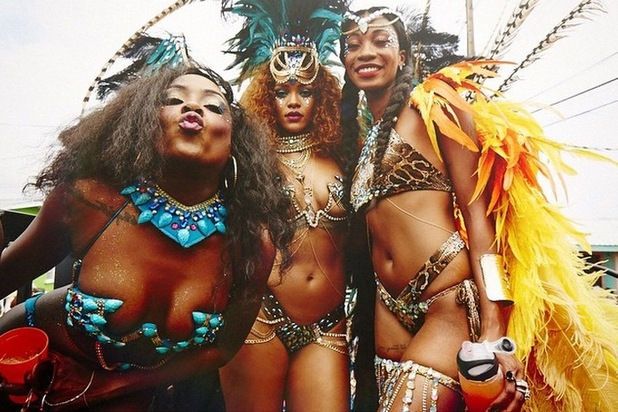 Rihanna celebrates in Barbados for the Islands crop over festival, 4th August 2015