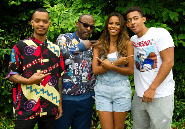 Rochelle Humes makes cameo in Rizzle Kicks' Summertime video - 4 August 2015.