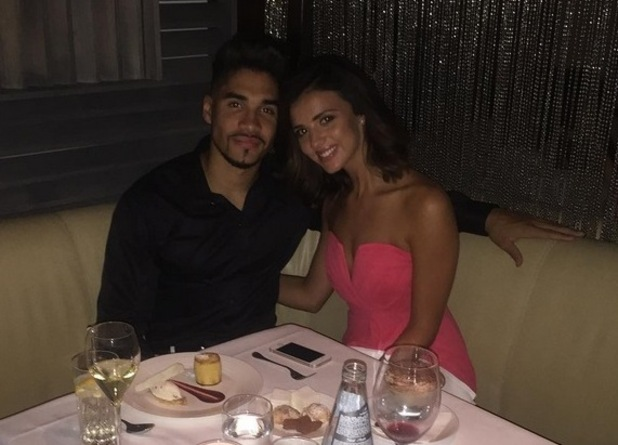 Lucy Mecklenburgh and Louis Smith dinner date, London 2 August
