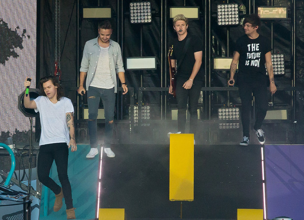 One Direction performing live on stage at Ullevi in Gothenburg - 23 June 2015.
