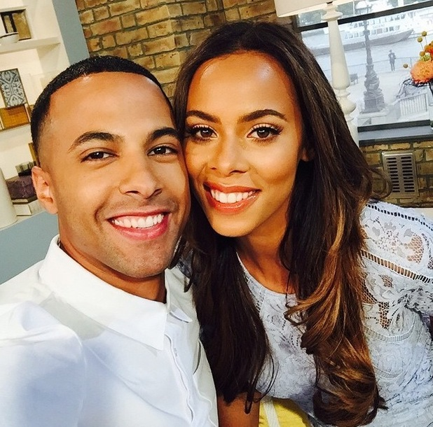 Rochelle and Marvin Humes take This Morning selfie 7 August