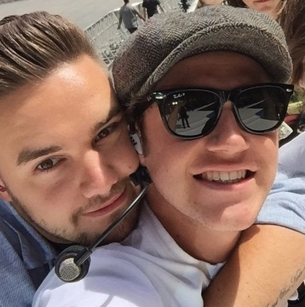One Direction members Niall Horan and Liam Payne pose for a selfie at Capital Summertime Ball, June 2015
