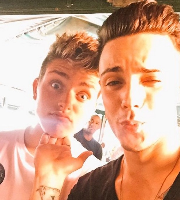 Charlie Jones and Barclay Beales in Spain 3 August