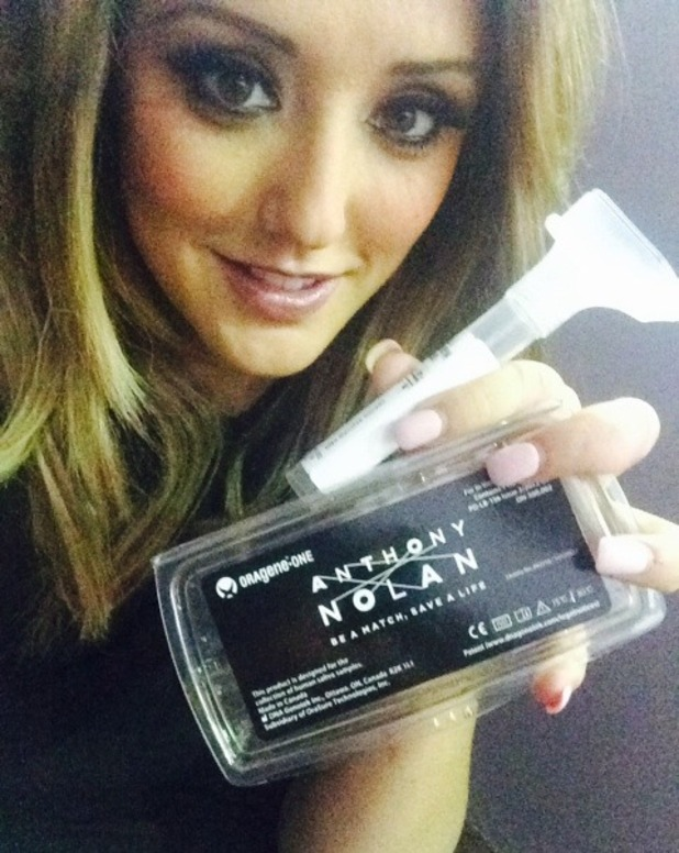Charlotte Crosby, Anthony Nolan #IGiveASpit campaign 4 August