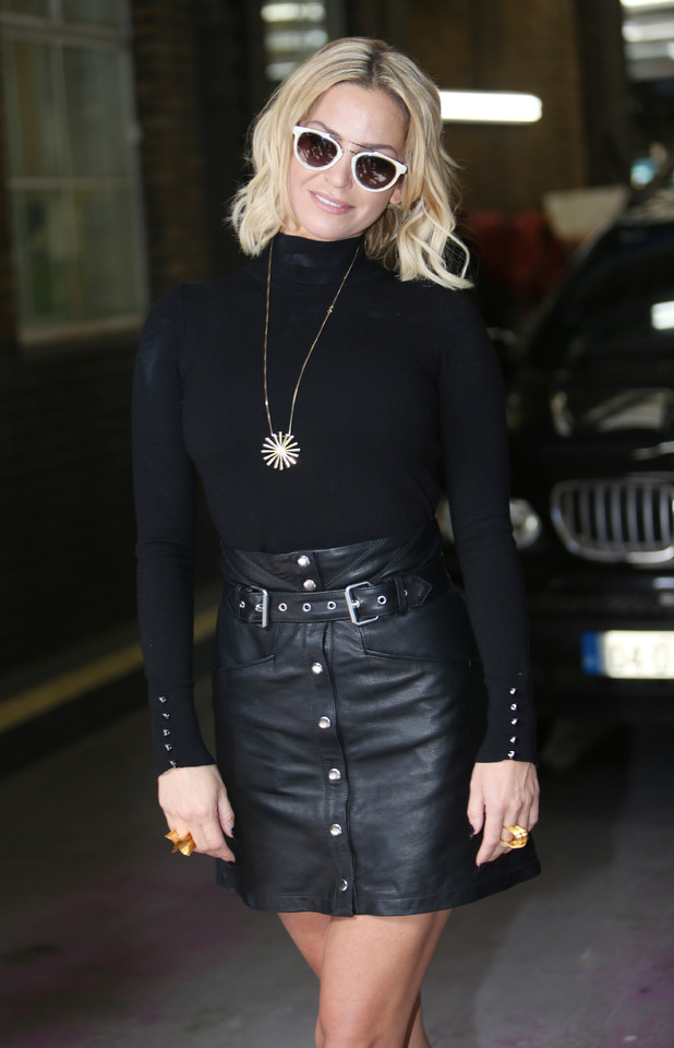 Sarah Harding leaving the ITV studios, having appeared on TV show 'This Morning', 3rd August 2015