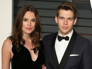 Keira Knightley and husband James Righton attend the Vanity Fair Oscar Party, February 2015