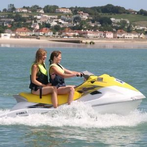 Jetskiing at St Aubin's Bay, Jersey
