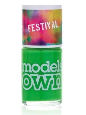 Models Own Nail Polish in Festival Green Fields